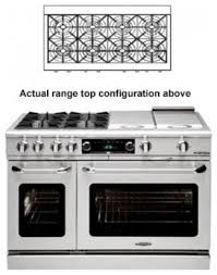 48 Inch Cooktop Gas Capital Cob488l 48 Inch Connoisseurian Series Gas Freestanding