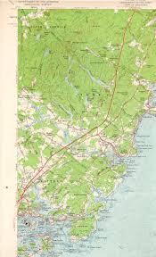 York England Map York Me Nh Quadrangle