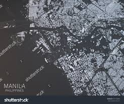 Satellite View Map Map Manila Satellite View City Philippines Stock Illustration