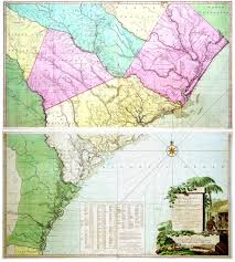 Georgia South Carolina Map William Gerard De Brahm 1717 1799 A Map Of South Carolina And A