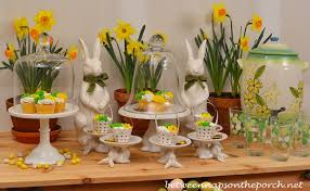 Easter Brunch Table Decorations by Spring Easter Dessert Buffet For Outdoor Party