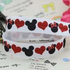 mickey ribbon 5 8 inch free shipping fold elastic foe mickey minnie printed