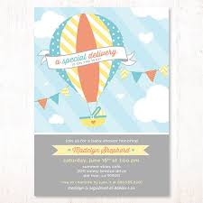 baby shower invitations stunning air balloon baby shower
