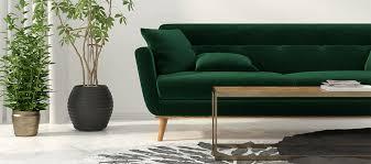 canap velours vert un revêtement de canapé en velours vert foncé se bien avec le