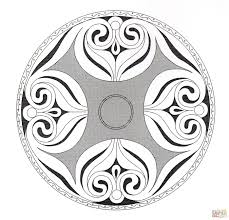 celtic mandala 7 coloring page free printable coloring pages