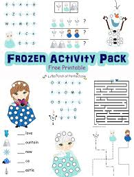 printable frozen images disney frozen inspired free printable activity pack