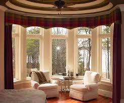 living room amazing bay window treatments living room with red