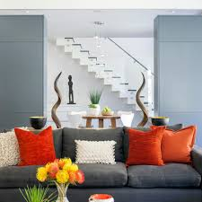 Orange Home And Decor Grey Green Orange Living Room Design Ideas Pictures Remodel And
