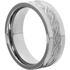 Men Wedding Rings by Men U0027s Wedding Bands Tungsten Carved Symbol 8mm