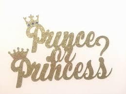 gender reveal cake topper prince or princess baby shower gender reveal gender reveal