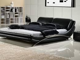 bed frame elegant modern king size bed frame with black leather