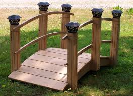 garden bridges with solar lights