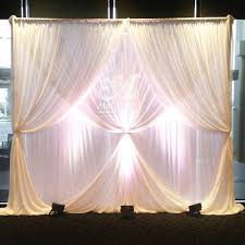 wedding backdrop lighting kit multi layered chiffon wedding backdrop with 2 layer curtain ties