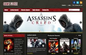 joomla game store theme best game store templates online game