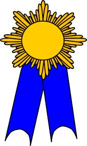 blue and gold ribbon ribbon clipart