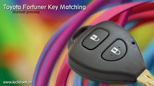 toyota fortuner key matching manual procedure youtube