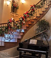 Banister Garland Ideas Christmas Decor Ideas For Staircase 1 Best Staircase Ideas