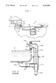 patent us5210886 dual outlet bathtub drain valve for water