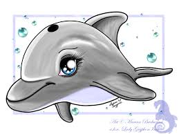 draw dolphin cartoon images clip art library