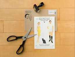 save the date ideas diy my wedding 02 diy save the date paper dolls happiness is