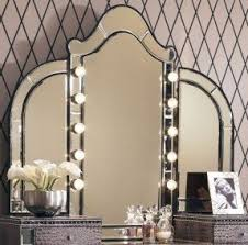 Makeup Vanity Table With Lights And Mirror Bedroom Vanity Sets With Lights Foter