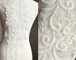 beaded lace fabric etsy