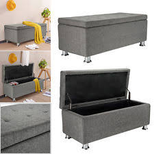 ottoman storage box furniture ebay