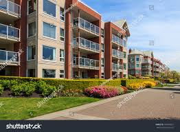 modern apartment buildings new westminster british stock photo