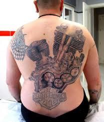 back motor harley davidson tattoo by astin tattoo