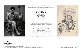 russian criminal tattoo london exhibit u2013 sang bleu