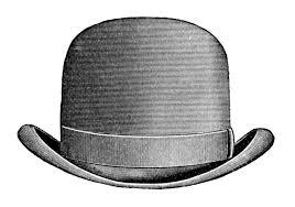 vintage halloween clipart black and white vintage clip art men u0027s hats derby u0026 top hat the graphics fairy