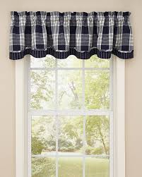 dylan navy lined layered valance park designs pretty windows