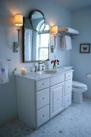 blue paint color transitional bathroom benjamin moore