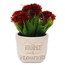 amazon com vgia artificial plants for home decor fake dandelion