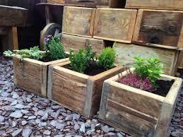 wooden planter boxes also with a garden pots also with a planter