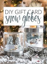gift card snow globe diy gift card snow globe