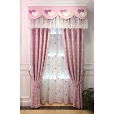 pink heat jacquard linen dreamy valance curtains