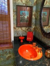 Orange Bathroom Kathy U0027s New Old Glam Bathroom Revival Featuring An Kohler Fresh