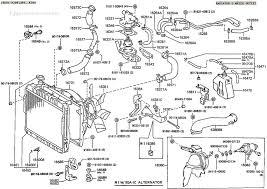 land cruiser fj60 bj60 fj62 fj80 fzj80 radiator illustration