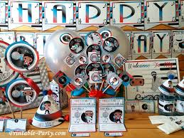 themed party supplies inspired by michael jackson birthday party decorations printable