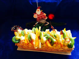 cuisine de a à z noel bûche de noël crème allegée citron et fruits exotiques les