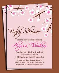 cherry blossom invitation printable or printed with free