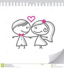 dessin mariage couples de mariage de dessin animé photo libre de droits image