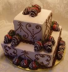 wedding cake with chocolate strawberries chocolate wedding cake