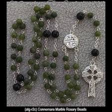 connemara marble rosary connemara marble rosary with