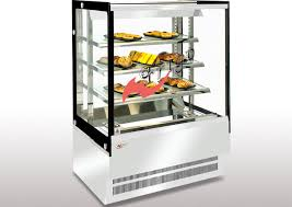 heated food display warmer cabinet case dry food display showcase square t5 light glass food warmer