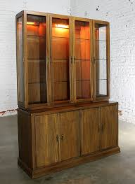 Hutch Menu Cabinet Company Lighted Display Cabinet China Hutch Vintage Mid