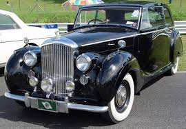 bentley old 1947 bentley mk vi sports saloon black front angle