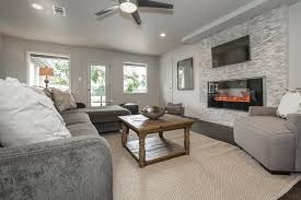 Contemporary Gray Family Room Design Ideas  Pictures Zillow - Contemporary family room design