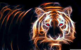 glowing tiger 4k hd desktop wallpaper for 4k ultra hd tv u2022 wide